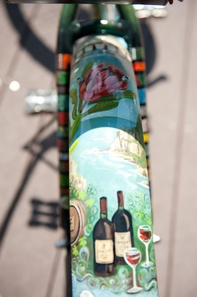 Hand Painted Art Bicycle by Christy Fifer eatonbikes.com